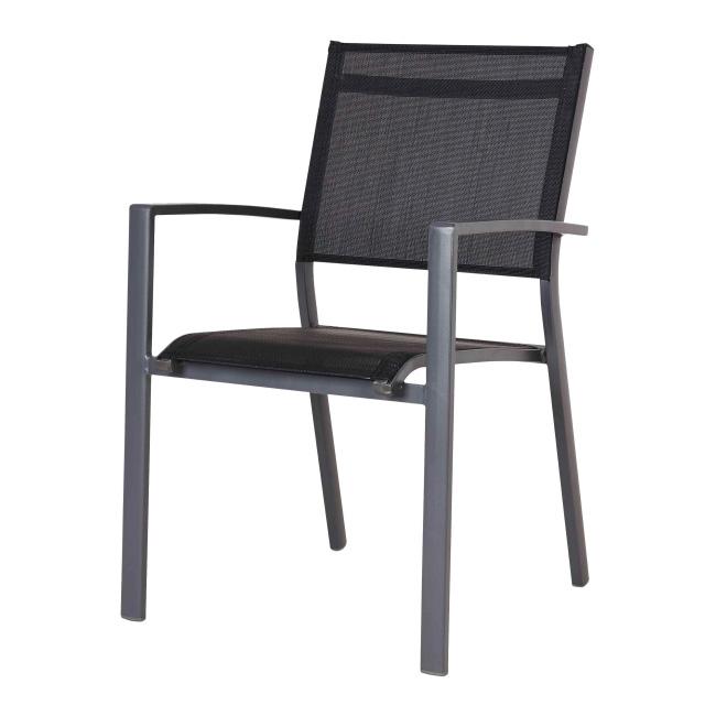 Krzesło z podłokietnikami Blooma Batz czarne