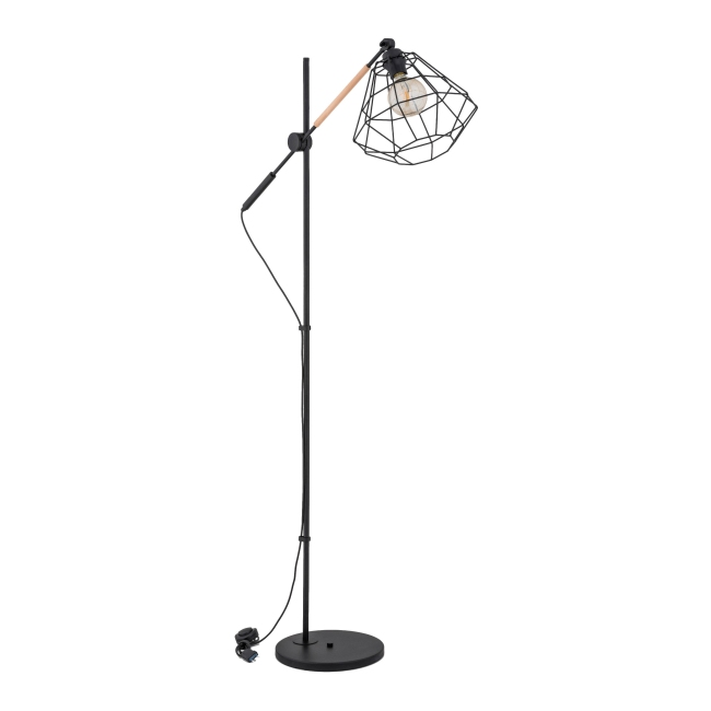 biale lampy podlogowe castorama