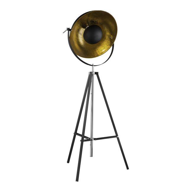 Lampa stojąca Xirena 1 x 60 W E27 czarno-złota