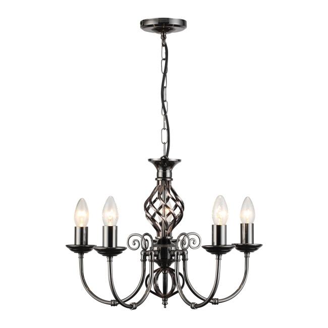 Lampa wisząca Aimee 5 x 40 W E14 chrom