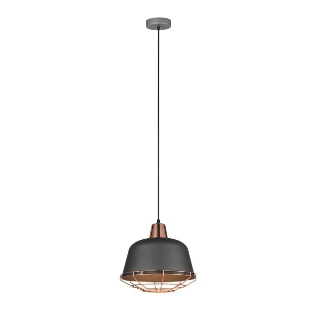Lampa wisząca Annika 1 x 60 W E27 szara/miedź