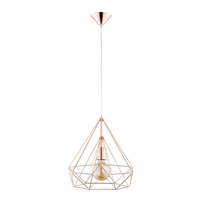 Lampa wisząca Basket II 1 x 60 W E27 miedź