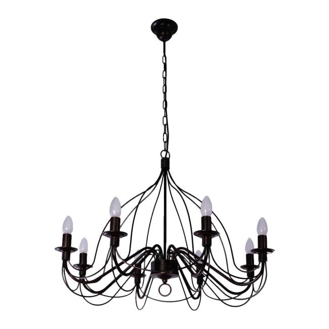 Lampa wisząca Camelot 8 x 40 W E27 czarna