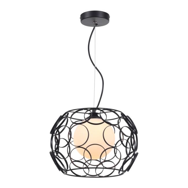 Lampa wisząca Coolio 1 x 60 W E27 czarna