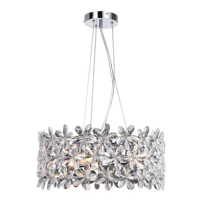 Lampa wisząca Ditta 3 x 40 W E14 chrom