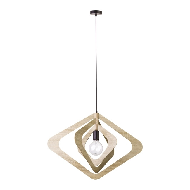 Lampa wisząca Glam Romb 1 x 60 W E27 dąb