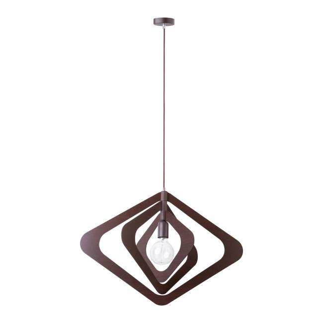 Lampa wisząca Glam Romb 1 x 60 W E27 wenge