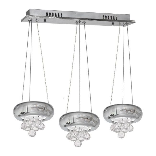 Lampa wisząca LED Lux 1 x 18 W chrom