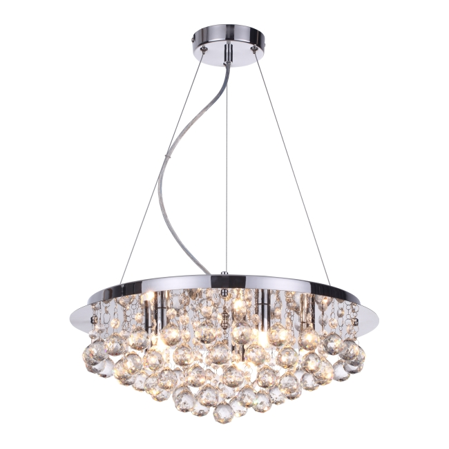 Lampa wisząca Loona 5 x 33 W G9 chrom