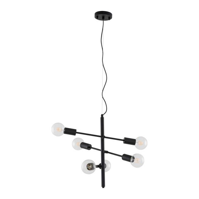 Lampa wisząca Madalyn 6 x 40 W E27 matt black