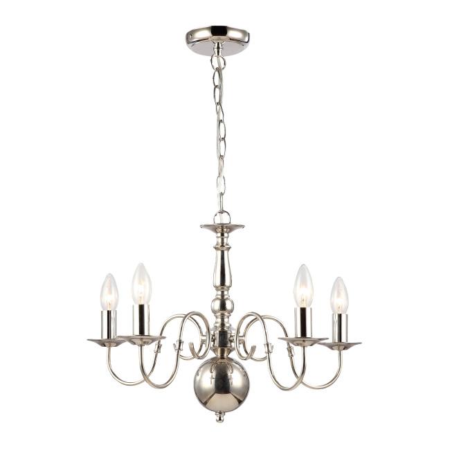 Lampa wisząca Marion 5 x 40 W E14 nikiel