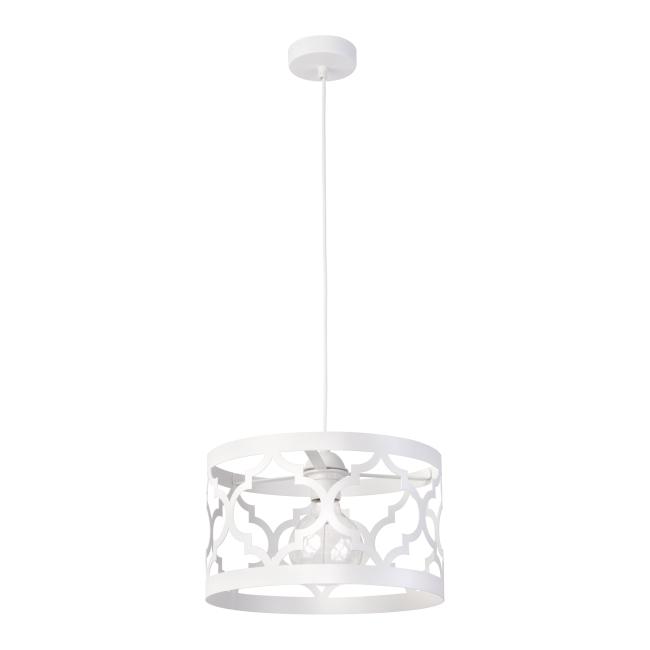 Lampa wisząca Maroko M 1 x 60 W E27 biała