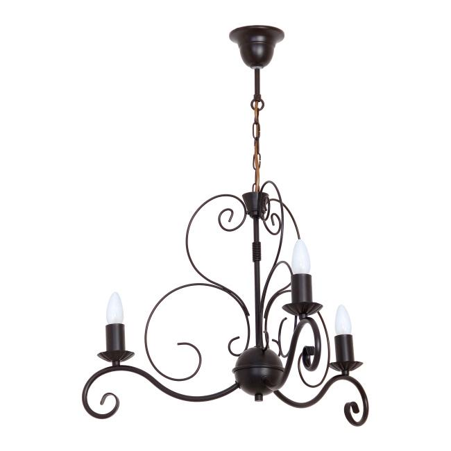 Lampa wisząca Mauro 3 x 60 W E14 czarna/brązowa