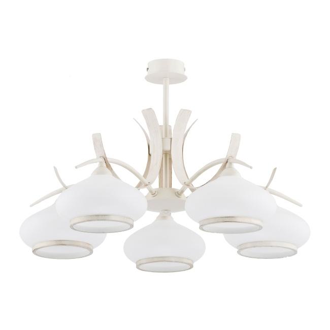 Lampa wisząca Odetta 5 x 40 W E14 beżowa