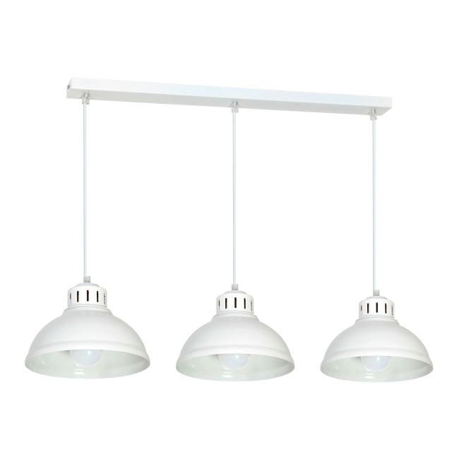 Lampa wisząca Sven 3 x 60 W E27 biała