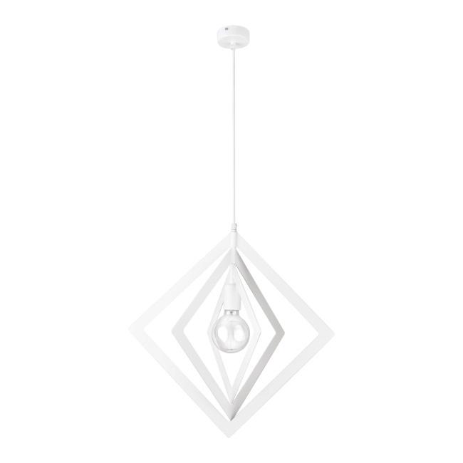 Lampa wisząca Trik Romb 1 x 60 W E27 biała