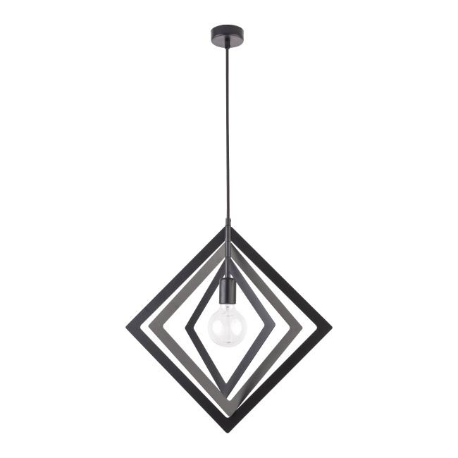 Lampa wisząca Trik Romb 1 x 60 W E27 czarna