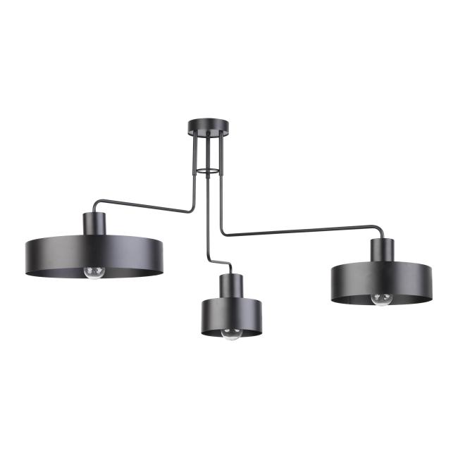 Lampa wisząca Vasco 3 x 60 W E27 czarna