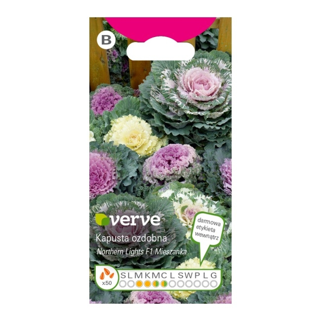 b762a0467abafa Nasiona kapusta ozdobna Verve mix - Kwiaty - Nasiona