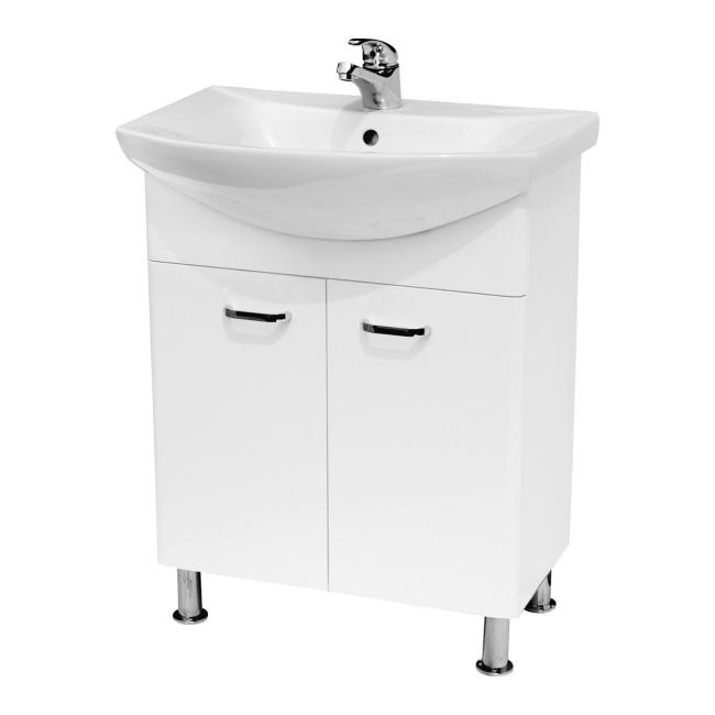 Zestaw szafka Cersanit Diuna z umywalką 65 cm biała