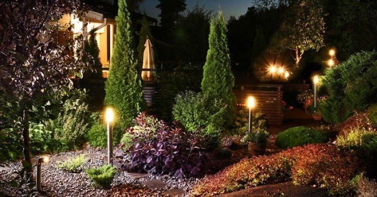Oświetlenie ogrodu – jak podświetlać rośliny i dekoracje