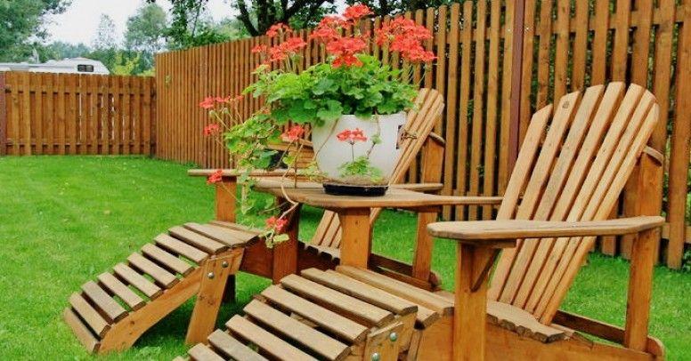 Drewniane Elementy W Ogrodzie Powrót Do Natury