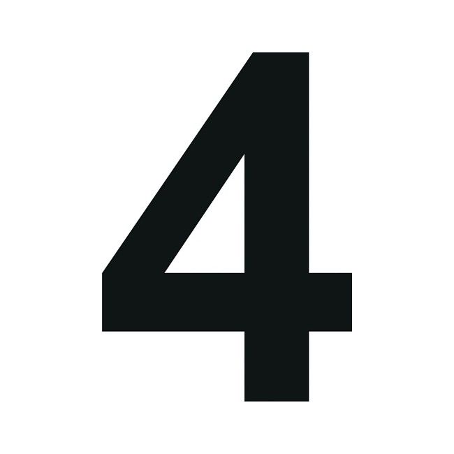 cyfra 4 10 x 15 cm cyfry i litery oznakowanie bramy i ogrodzenia ogr d. Black Bedroom Furniture Sets. Home Design Ideas