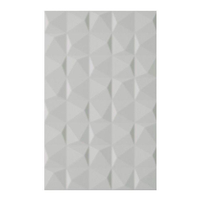 Dekor Melby Kwadro 25 X 40 Cm Grys Struktura Płytki ścienne