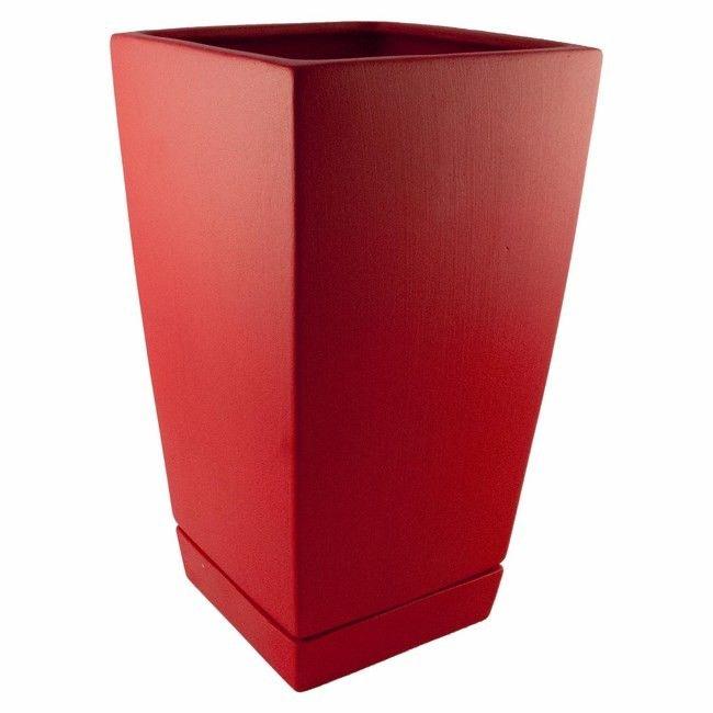 Donica Kw2 Czerwona Z Podstawką 17 X 17 X 31 Cm