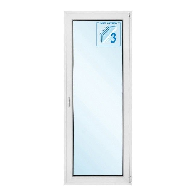 Drzwi Balkonowe Pcv Rozwierno Uchylne 865 X 2095 Mm Białe