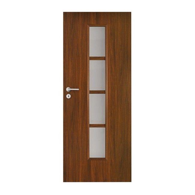 Drzwi Pokojowe Olga 90 Prawe Orzech Drzwi Jednoskrzydlowe Castorama