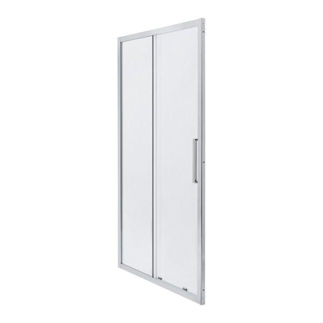 Drzwi Prysznicowe Przesuwne Zilia 140 X 200 Cm Inox Transparentne Scianki I Drzwiczki Castorama
