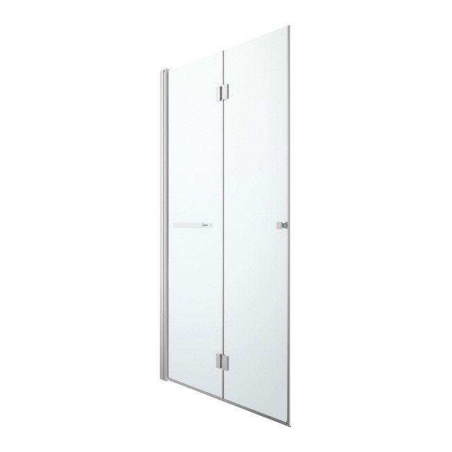 Drzwi Prysznicowe Składane Cookelewis Beloya 120 Cm Chrom