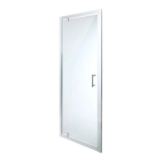 Drzwi Prysznicowe Wahadlowe Onega 70 Cm Chrom Transparentne Scianki I Drzwiczki Castorama