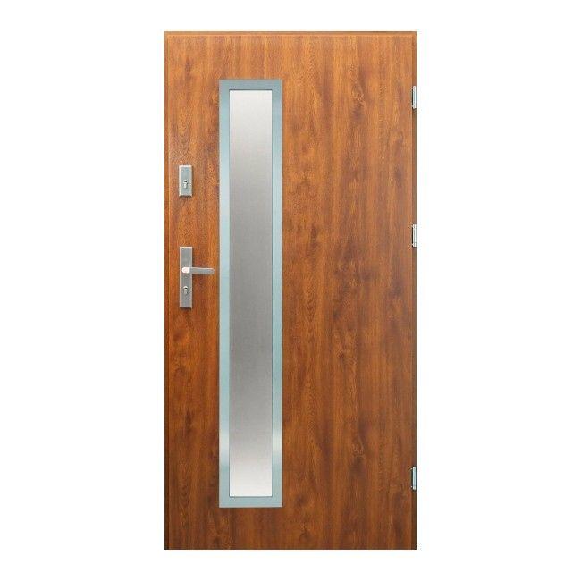 Drzwi Zewnetrzne Splendoor Meije 90 Prawe Zloty Dab Drzwi Zewnetrzne Castorama