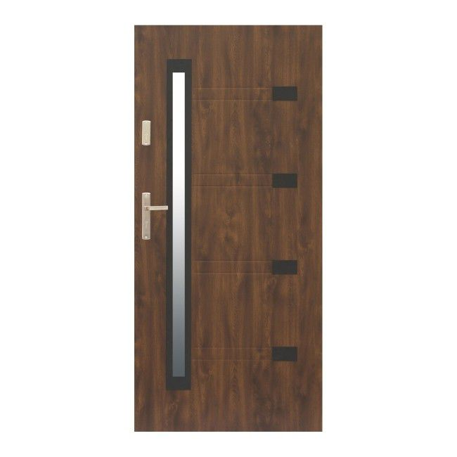 Drzwi Zewnetrzne Zitron 90 Prawe Orzech Drzwi Zewnetrzne Castorama