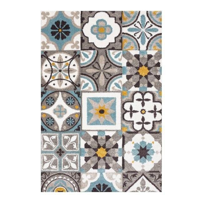 Dywan Colours Puppis 120 X 170 Cm Płytka Niebieski