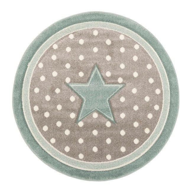 Dywan okrągły Kids gwiazdki 120 cm niebieski Dywany