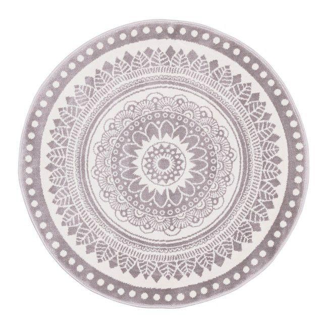 Dywan okrągły Soft Koro 100 cm popielaty