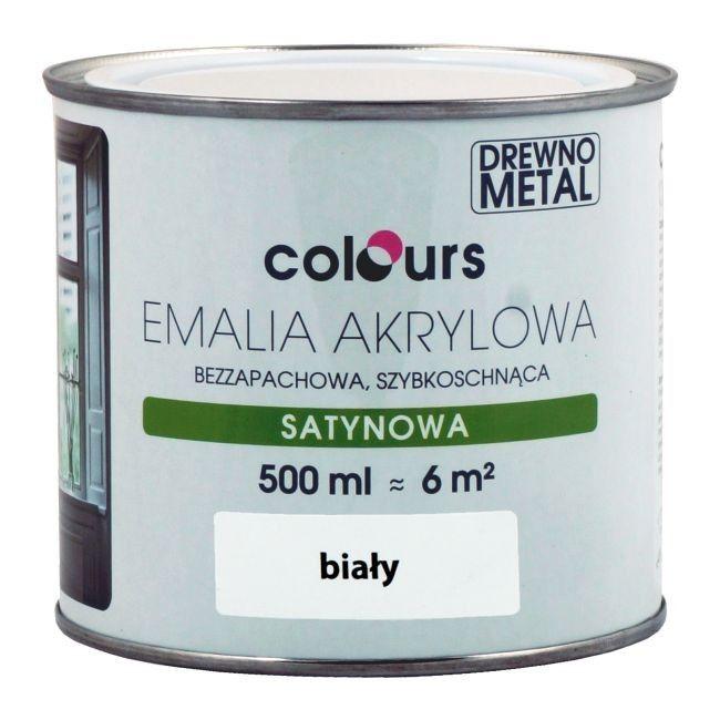 Emalia Akrylowa Colours Biala 0 5 L Uniwersalne Castorama
