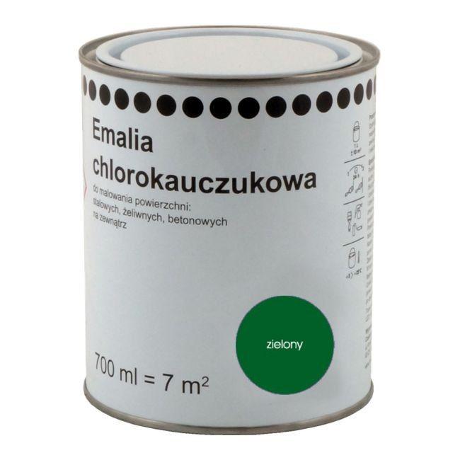 Emalia Chlorokauczukowa 0 7 L Zielona Farby Do Metalu Emalie
