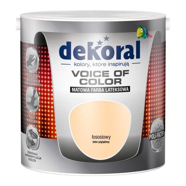 Farba Dekoral Voice Of Color łososiowy 25 L Farby Kolorowe