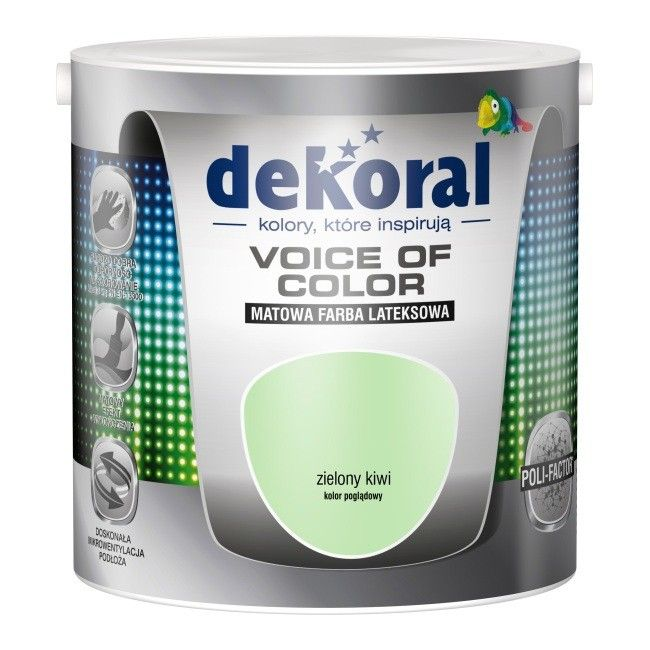 Farba Dekoral Voice of Color zielony kiwi 2,5 l