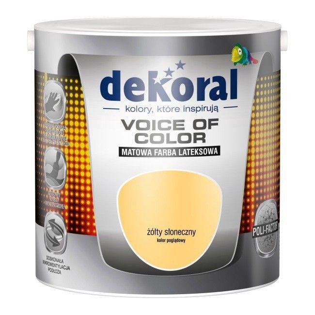 Farba Dekoral Voice of Color żółty słoneczny 2,5 l