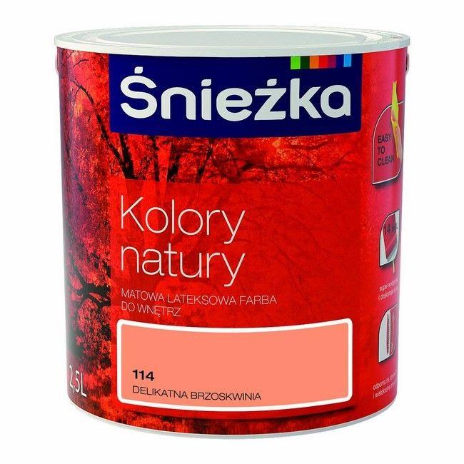 Farba śnieżka Kolory Natury Delikatna Brzoskwinia 25 L Farby