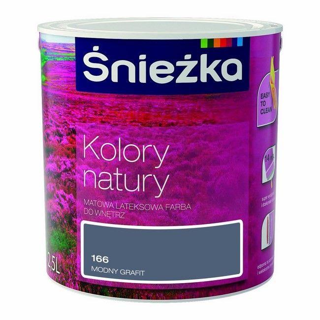 Farba śnieżka Kolory Natury Modny Grafit 25 L Farby Kolorowe