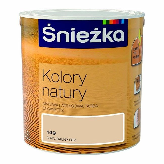 Farba śnieżka Kolory Natury Naturalny Beż 25 L Farby Kolorowe