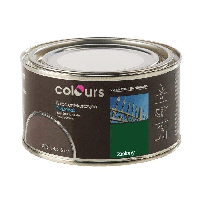 Farba Antykorozyjna Colours Zielona 0 25 L Farby Do Metalu Emalie