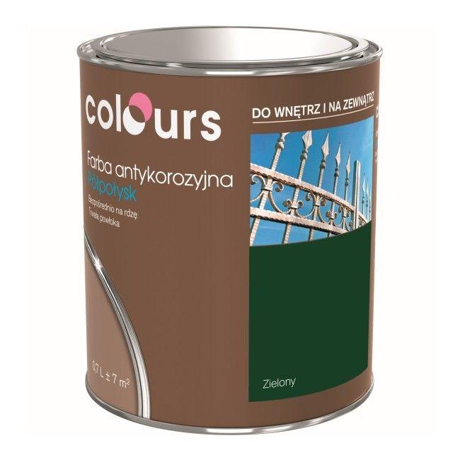 Farba Antykorozyjna Colours Zielona 0 7 L Farby Do Metalu Emalie