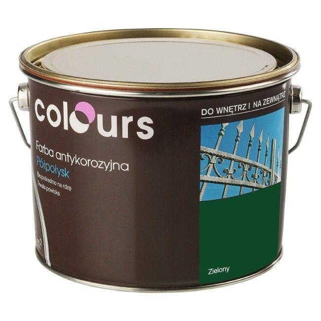 Farba Antykorozyjna Colours Zielona 2 5 L Farby Do Metalu Emalie